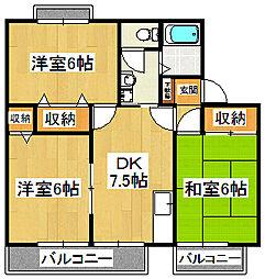ガーデンホームズI・II[2-105号室]の間取り