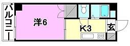 ハイム木屋町[107 号室号室]の間取り