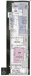 JR山手線 浜松町駅 徒歩8分の賃貸マンション 5階1DKの間取り