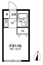 東京都江戸川区鹿骨2の賃貸アパートの間取り