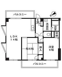 第3住光マンション[2階]の間取り