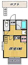 ベストハウス[201号室号室]の間取り