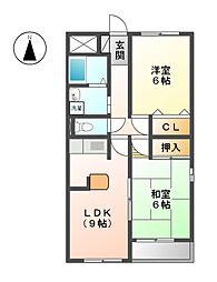 栄ハイム[2階]の間取り