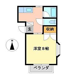 栃木県宇都宮市戸祭4丁目の賃貸マンションの間取り