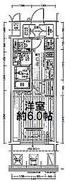 エステムコート難波WEST-SIDEVIIグローブ 9階1Kの間取り