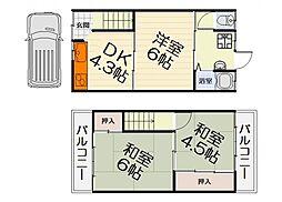 [テラスハウス] 大阪府和泉市富秋町2丁目 の賃貸【/】の間取り