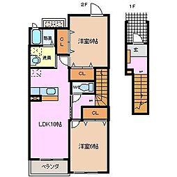 メゾン・フィロスI[2階]の間取り