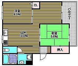 YF深阪[2階]の間取り