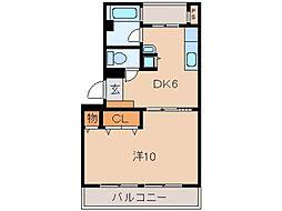 東和コーポラス[2階]の間取り