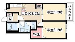 愛知県名古屋市緑区鎌倉台1丁目の賃貸アパートの間取り