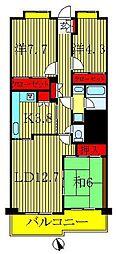 フォレスト早稲田[3階]の間取り