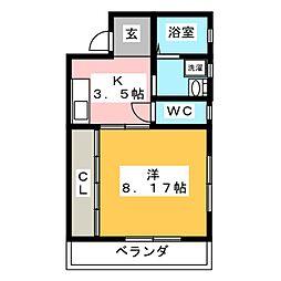 コーポSAKAI[2階]の間取り