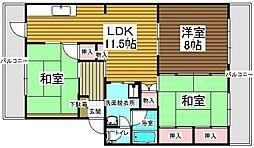 村第2ビル[201号室]の間取り