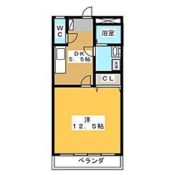 エイトハイツB[1階]の間取り