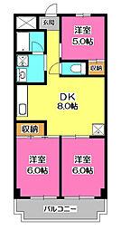 ドリーム1号館[3階]の間取り