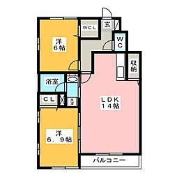 レジデンス武蔵III A棟[1階]の間取り