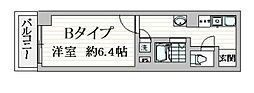 都営浅草線 戸越駅 徒歩1分の賃貸マンション 4階1Kの間取り