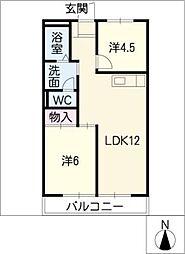 アーバンハイムイワキ[1階]の間取り