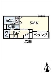 quintet[3階]の間取り