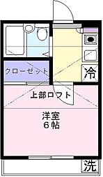 パークサイド早稲田第5[202号室]の間取り