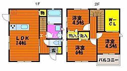[一戸建] 岡山県岡山市中区今在家 の賃貸【/】の間取り