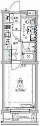 東急大井町線 九品仏駅 徒歩4分の賃貸マンション 1階1Kの間取り