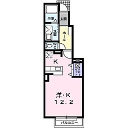 東京都武蔵村山市神明4丁目の賃貸アパートの間取り