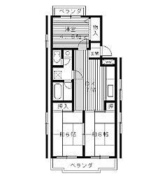東京都練馬区桜台の賃貸マンションの間取り