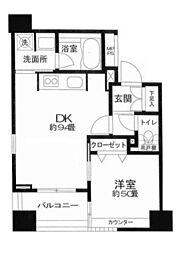 クリオ三田ラ・モード[301号室]の間取り
