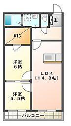 SANAEマンション[1階]の間取り