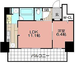 (仮)博多駅東3丁目プロジェクト[506号室]の間取り