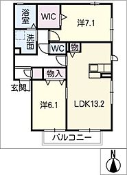 仮)D−room弥生町松原B棟[1階]の間取り