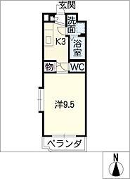 幸マンション[3階]の間取り