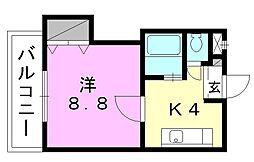 ファミールハイツ[307 号室号室]の間取り