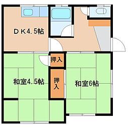 深見アパート[2号室]の間取り