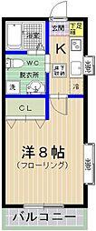 ローランドクォ−タ−ズ[1階]の間取り