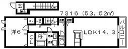 ユーヴェS IV[203号室号室]の間取り
