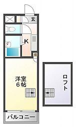 プレサージュ江坂II[214号室号室]の間取り