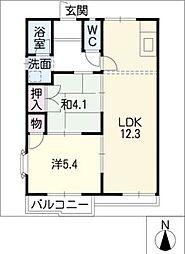 メゾン・カフェオーレ[2階]の間取り