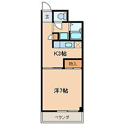 東京都江戸川区中葛西1丁目の賃貸マンションの間取り