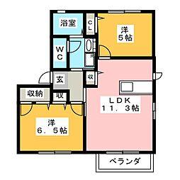 カーサ21 B棟[2階]の間取り