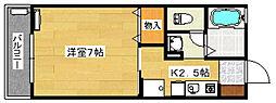 ソレーユ向田[1階]の間取り