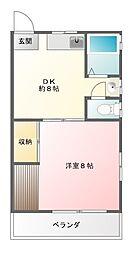 松村荘[102号室]の間取り