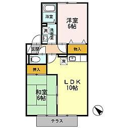 フロ−ラYUGAWA B[2階]の間取り