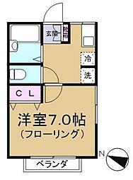 ライブ千川 1階1Kの間取り