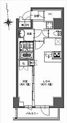 都営新宿線 馬喰横山駅 徒歩9分の賃貸マンション 11階1LDKの間取り