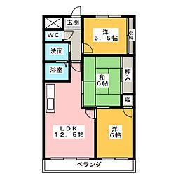 マンション フォレスト[2階]の間取り