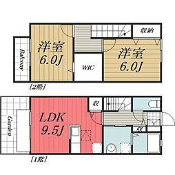 [テラスハウス] 千葉県四街道市もねの里3丁目 の賃貸【/】の間取り