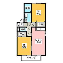 グランフォーレ壱番館[1階]の間取り