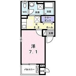 メゾン-6[3階]の間取り